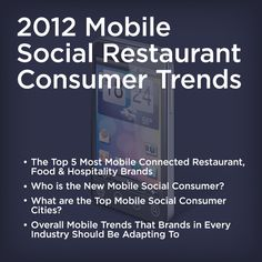 2012 Mobile Social Consumer Trends Report #MoSoCo Industry Research, Social Trends, New Mobile, Relationship, Restaurant, Social Media, Learning, Diner Restaurant, Studying