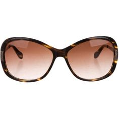 Oliver Peoples Tortoiseshell Oversize Sunglasses ($65) ❤ liked on Polyvore featuring accessories, eyewear, sunglasses, glasses, brown, oliver peoples glasses, oliver peoples sunglasses, oversized glasses, brown glasses and oliver peoples