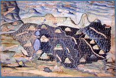 Carte des Hautes-Chaumes Vosgiennes au 16e s.