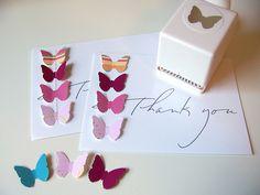 Martha Stewarts butterfly craft punch. Party invite idea!