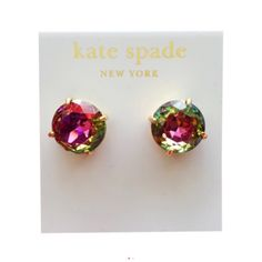 Kate Spade Iridescent Crystal Gumdrop Earrings. Get the lowest price on Kate Spade Iridescent Crystal Gumdrop Earrings and other fabulous designer clothing and accessories! Shop Tradesy now