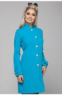 Jaleco Grã Duquesa - Azul Turquesa