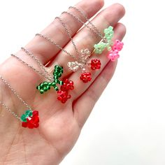 beaded cherry beaded strawberry beaded necklaces beaded bracelet beaded rings beaded flower bracelets beaded daisy necklace #fashion #diy #diyideas #diyjewelrymaking #fashionblogger #ootd #beadedjewelry #beadednecklaces #aesthetic #koreanfashiontrends