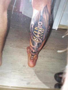 tattoo idea. Bio mechanical  nice. not to keen on the muscle outlines