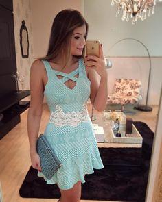 Vestido # azul # branco#lovely