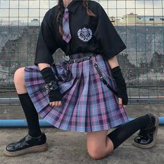 Harajuku Fashion, Kawaii Fashion, Lolita Fashion, Cute Fashion, Harajuku Clothing, Harajuku Style, Kpop Fashion Outfits, Mode Outfits, Grunge Outfits