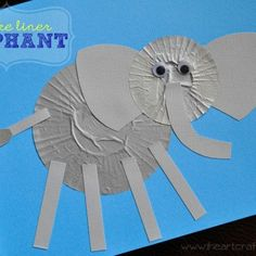 Cupcake Liner Elephant Craft