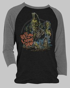 Return of the Living Dead Baseball Tee [01359] - $37.00 : Horror T-Shirts : FRIGHT-RAGS, Horror Shirts