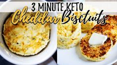 3 Minute Keto Coconut Flour Bread | Cheddar Biscuits! - YouTube