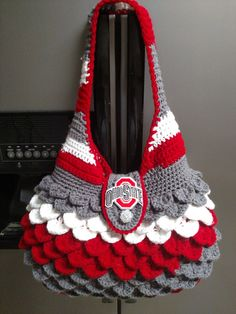 Ohio State Inspired Purse by HandmadeByMeAndDee on Etsy