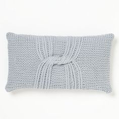 Knotted Rib Pillow Cover – Blue Fin
