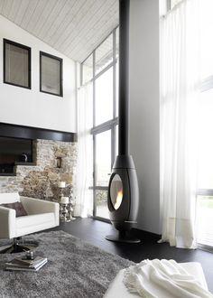 Wood Fireplace by Invicta