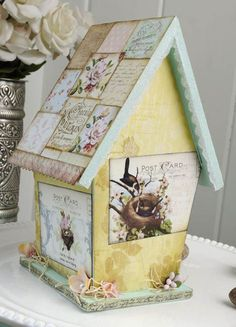 French Vintage Birdhouse - Crafts 'n things