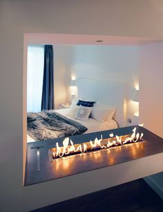 Modern Fireplaces to Update a Whole Room- Linear Divisions