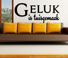 Buy VINYL DECAL - GELUK IS TUISGEMAAK AFRIKAANS INSPIRATIONAL QUOTE 4 WALL ART - CHOOSE COLOUR for R145.00