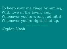 Ogden Nash on marriage