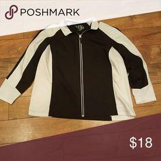 Track Jacket Black and white size 2x Jackets & Coats