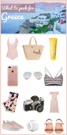 What to pack for a vacation around the Greek islands and the mainland. Perfect any trip to the Mediterranean.