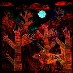 The Old Cells Studio - Michèle Brown Art: Bristly Fox's world - iPad painting