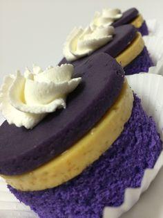Ube Flan Cupcakes