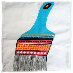 Paintbrush cushion cover
