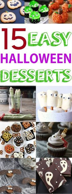 Cute and EASY Halloween desserts Pinterest Easy halloween - cute easy halloween treat ideas