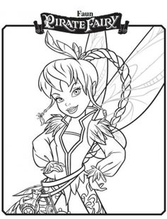 Free Printable Disney fairy Coloring Pages | Printable Disney's The Tinkerbell Pirate Fairy Coloring Pages (14 ...