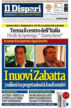 La copertina del 25 agosto 2016 #ischia #ildispari