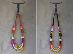 DIY Proenza Schouler rope necklace. Great way to add a touch of neon!