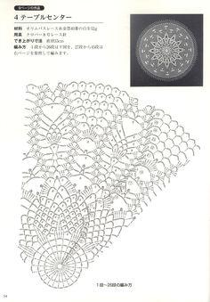 Japanese book and handicrafts - Suteki Pineapple Crochet Laces 2011 Crochet Doily Diagram, Crochet Doily Patterns, Lace Patterns, Filet Crochet, Crochet Doilies, Crochet Yarn, Crochet Stitches, Crochet Hooks, Mandala Floral