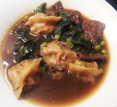tofu bok choy wonton soup
