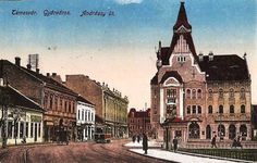 Timisoara - 1922 - Palatul Ştefania, aflat vis-a-vis de Catedrala Millenium Romania, Notre Dame, Barcelona Cathedral, Mansions, Landscape, House Styles, City, Building, Travel