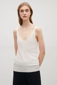 COS   Knitted sheer vest top