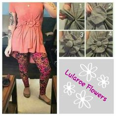 How to Create LulaRoe Flowers on Your Outfits.