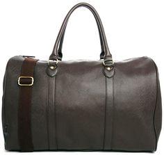 €55, Bolsa de Viaje de Cuero Marrón Oscuro de Asos. De Asos. Detalles: https://lookastic.com/men/shop_items/193154/redirect