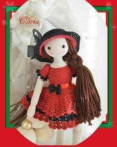 Hey, diesen tollen Etsy-Artikel fand ich bei https://www.etsy.com/listing/168526056/collectible-doll-elegant-crochet-doll
