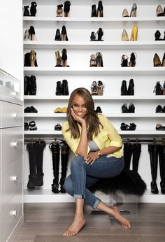Go Inside Tyra Banks's Immaculate Closet (and Get Some Tips from Her Organizing Pro) | from InStyle.com