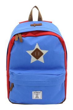 Daypack F|23  Star blau/rot #F23 #Friedrich23 #Star #Palm #Check #Holiday