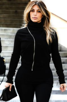 Kim Kardashian. Still dying to do my hair like this. Hopefully summer...