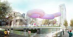 Anunciados os vencedores do concurso para projetar uma praça cultural em Seul,Seoul Chronicle. Cortesia de Sejongdaero Competition