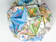 Where will your next #adventure take you? #origami #papercraft #map #travel - #AAAEditor Mish Map Crafts, Travel Memories, Creative Home, Welding, Traveling By Yourself, Party Favors, Vibrant Colors, Origami, Decorative Boxes