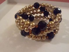 Memory Wire Bracelet -Giamarie Jewelry - Pearl balanced with gem