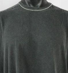 Tommy Bahama Denim Mens XL Coal Gray T-Shirt Pima Cotton SS Fitted Crew Neck VGC #TommyBahama #CrewNeckGarmentDyed