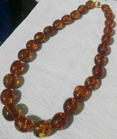 AAA Big, Amber Necklace, 18k Yellow Gold, 21/25 - 30/32 mm, Vintage, Handmade, Wrapped Wire, Wedding Jeweles, Bride Jeweles, Luxuri Jeweles, Amber Beads, Amber Jewelry, Etsy Jewelry, Handmade Jewelry, Jewelry Gifts, Handmade Items, 18k Rose Gold, 18k Gold, Gold Hoop Earrings