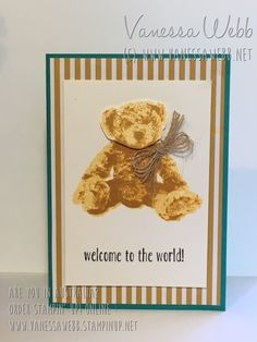 NEW CATALOGUE SNEAK PEEK : Baby Bear Photo- realistic, Photopolymer stampset - adorable! Available from June 1 - Vanessa Webb Stampin' Up! Independent Demonstrator Australia