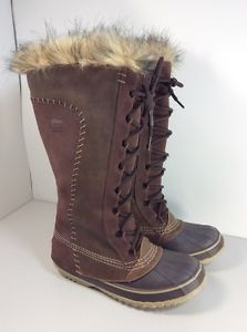 Sorel-Cate-the-Great-Tobacco-Brown-Tall-Fur-Winter-Boots-RARE-7-Nwob