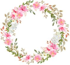 grzyb Valuable Tips For Memory Foam Mattress Pads Article Body: Memory foam mattress pads are becomi Flower Circle, Flower Frame, Flower Art, Wreath Watercolor, Watercolor Cards, Watercolor Flowers, Floral Bouquets, Floral Wreath, Baby Food Jar Crafts