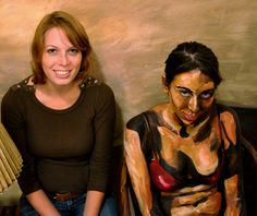 here's Alexa with one of her painted people