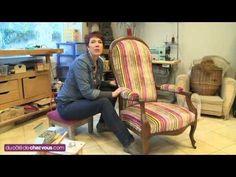 Restaurer un fauteuil Voltaire - YouTube