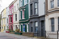The colorful houses of Portobello road are charming! They're every bit as lively as the famous Portobello Road market.